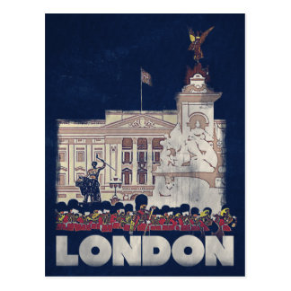 London - Vintage style travel postcard