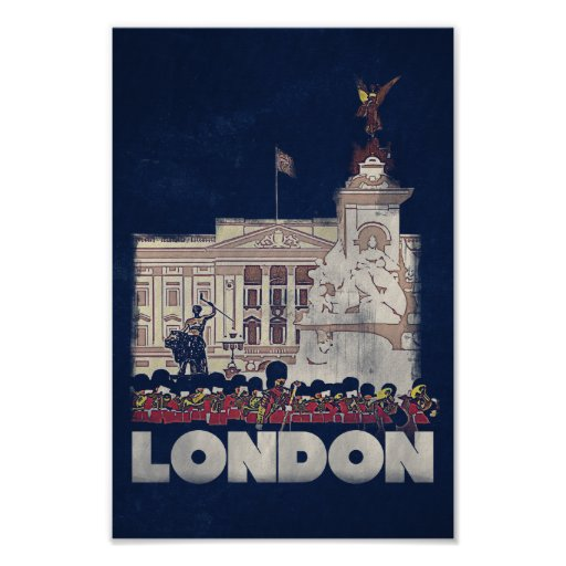 London - Vintage style travel poster