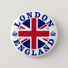 London Vintage UK Design 6 Cm Round Badge