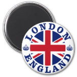 London Vintage UK Design 6 Cm Round Magnet