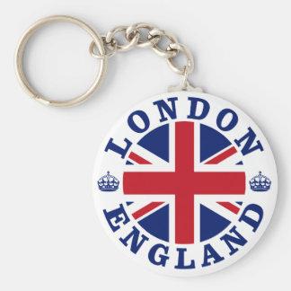 London Vintage UK Design Basic Round Button Key Ring