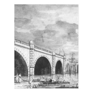 London: Westminster Bridge under Repair Canaletto Postcard