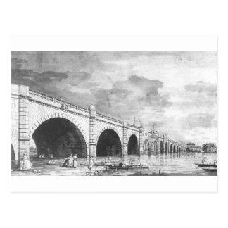 London: Westminster Bridge under Repair Canaletto Postcard