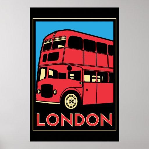 london westminster england art deco retro poster