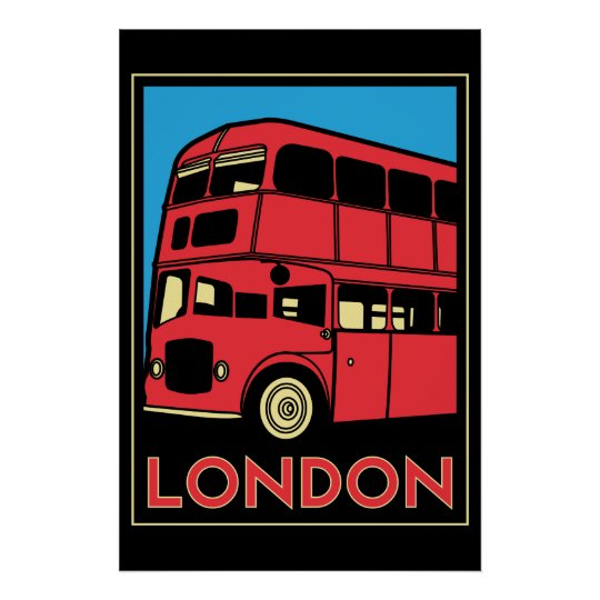 london westminster england art deco retro poster