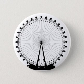London Wheel Silhouette 6 Cm Round Badge