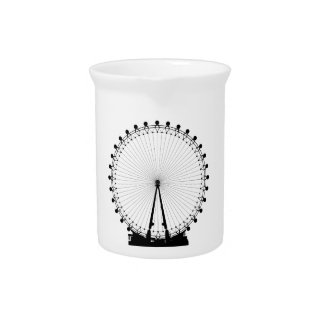London Wheel Silhouette Pitcher