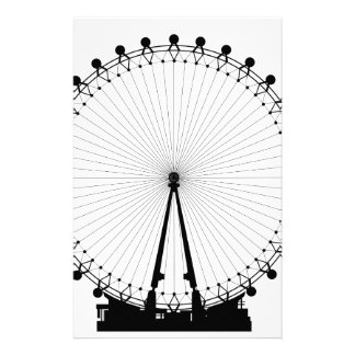 London Wheel Silhouette Stationery