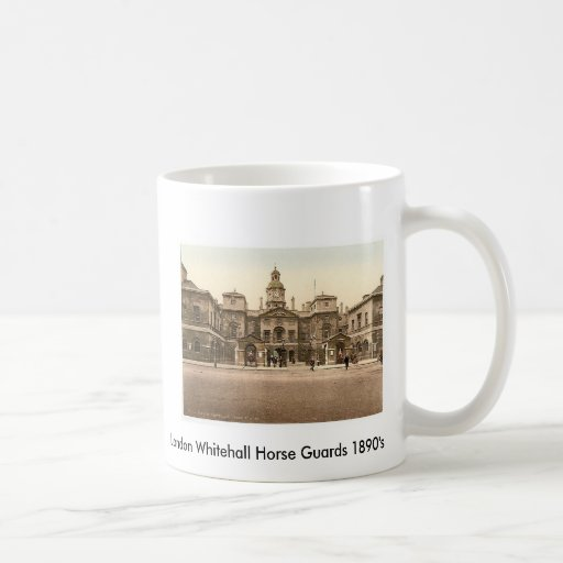 London Whitehall Horse Guards 1890's Coffee Mugs