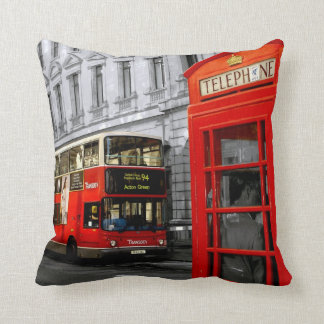 london with a touch of colour cushion