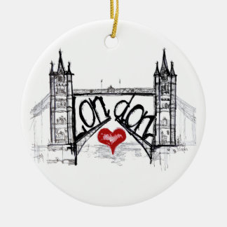 London with love christmas ornament