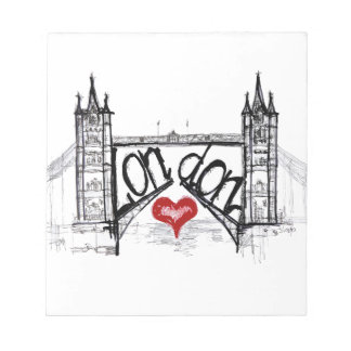 London with love notepad