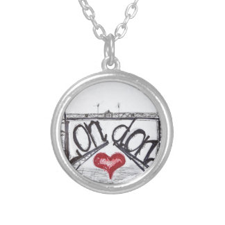 London with love silver plated necklace