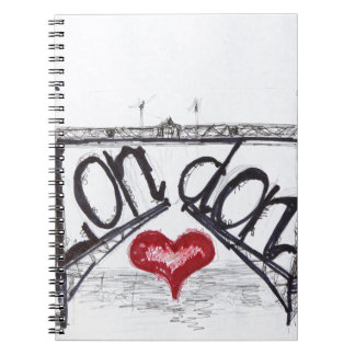 London with love spiral notebook