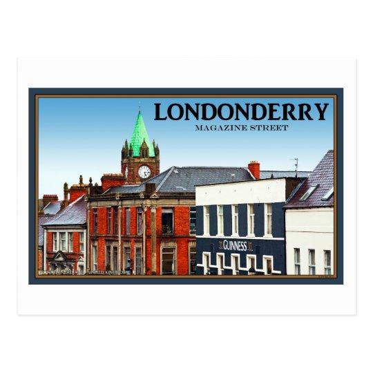 Londonderry / Derry - Magazine Street Postcard