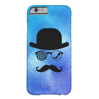 Londoner Wolf Womanizer Mustaches Glass Blue Barely There iPhone 6 Case