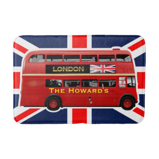 London's Famous Red Bus Bath Mat