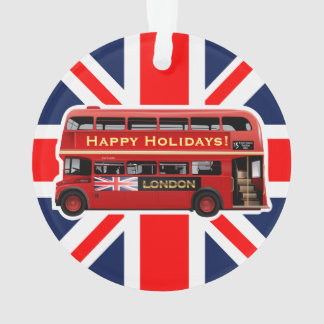 London's Famous Red Bus Ornament