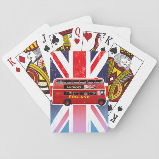 London's Famous Red Bus Playing Cards