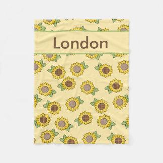 London''s Personalized Sunflower Blanket