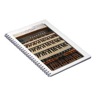 London's Temple church organ notebook