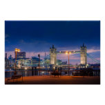London's Tower Bridge as night falls Print