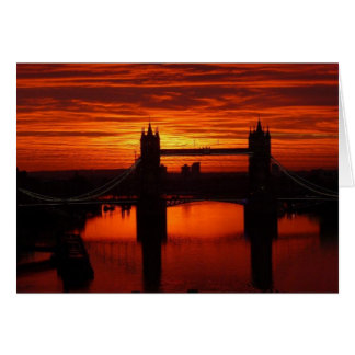 London's Tower Bridge at Daybreak Card