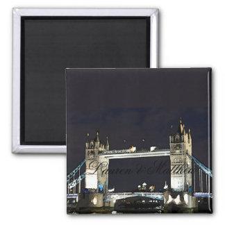 London's Tower Bridge Square Magnet