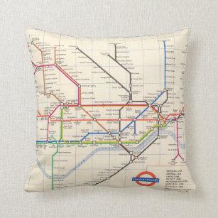 Dc Subway Map Pillow.Underground Map Gifts Gift Ideas Zazzle Uk
