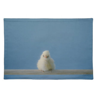 Lone Baby Pet Chicken Sitting on a Perch Placemat
