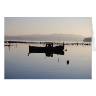Lone Boat on the Loch Card
