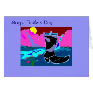 Lone Boot in the Desert, Happy Father's Day Greeting Card