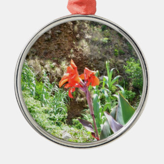 Lone Canna Lily Christmas Ornament