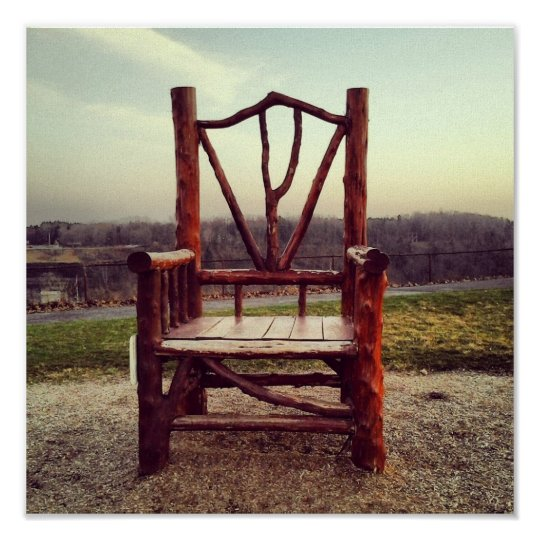 Lone Chair Poster
