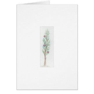 Lone Christmas Tree (Watercolor) Card