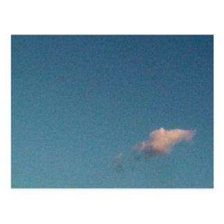 lone cloud postcard