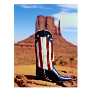 Lone cowboy boot, Monument Valley, Arizona, U.S.A. Postcard