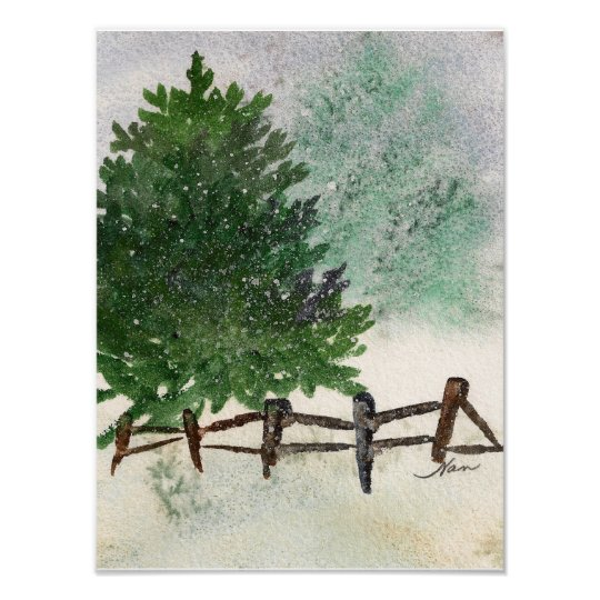 Lone Pine Tree Print