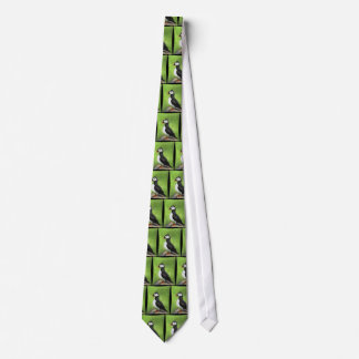LONE PUFFIN - birdie folk art fashion tie