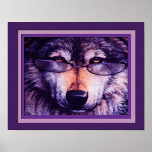 Lone Purple Wolf Poster