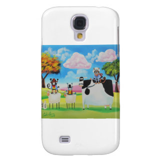 Lone ranger cats and sheep painting galaxy s4 case