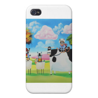 Lone ranger cats and sheep painting iPhone 4 case