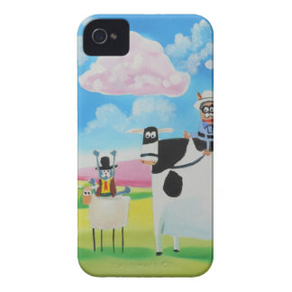 Lone ranger cats and sheep painting iPhone 4 cases