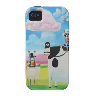 Lone ranger cats and sheep painting iPhone 4 covers