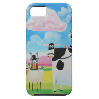 Lone ranger cats and sheep painting iPhone 5 cases