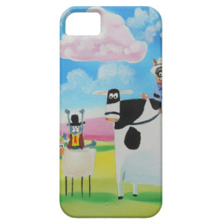 Lone ranger cats and sheep painting iPhone 5 cover