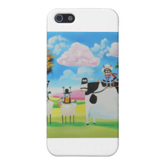 Lone ranger cats and sheep painting iPhone 5 covers