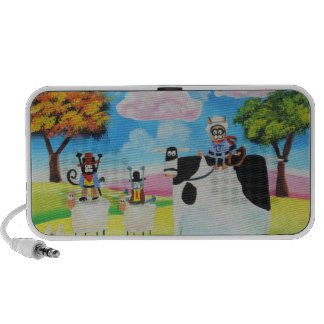 Lone ranger cats and sheep painting iPhone speaker