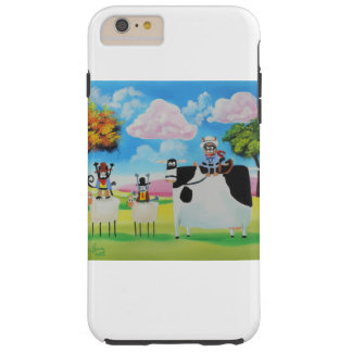 Lone ranger cats and sheep painting tough iPhone 6 plus case