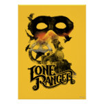 Lone Ranger Train and Mask Posters